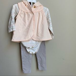 Cynthia Rowley 3pc baby girl outfit 6-9m